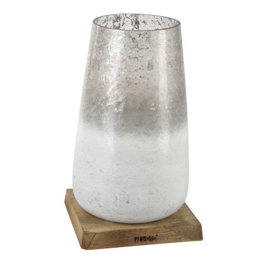 73609d1b1a3 PTMD Küünlaalus XL Luce klaas ja puit,