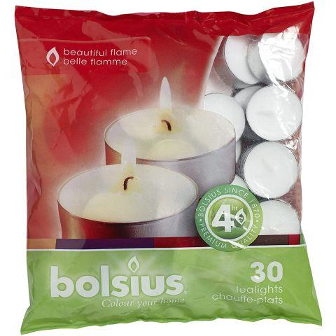 BOLSIUS Teeküünal valge 4h 30tk