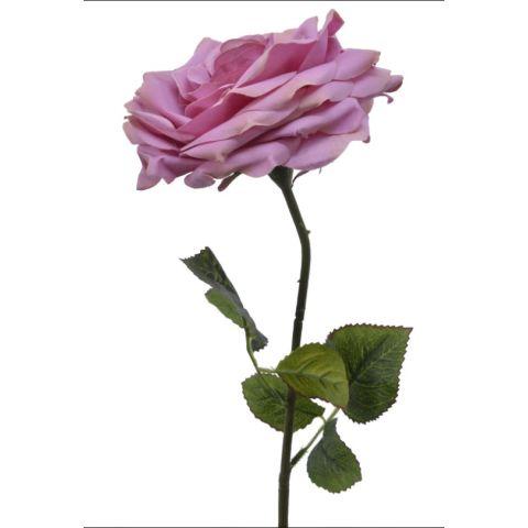 Kunstlill roos roosa 53cm
