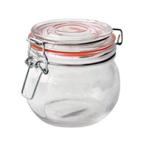 Klaaspurk klamberkaanega 450ml