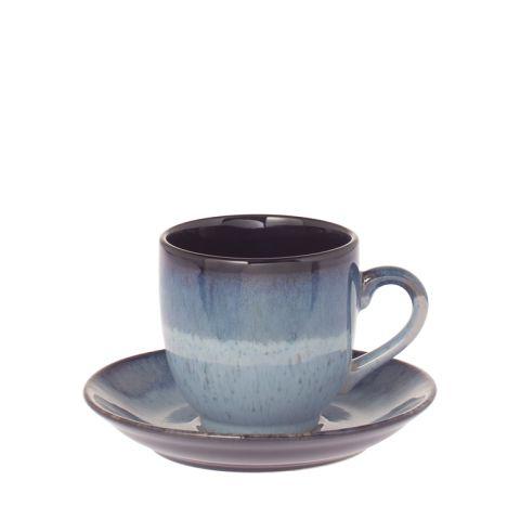 RIVERDALE Tass alustaldrikuga Vintage sinine 9 cm
