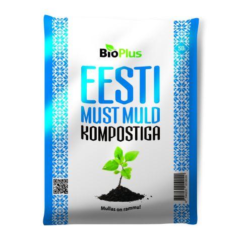 Eesti Must muld kompostiga 50liitrit