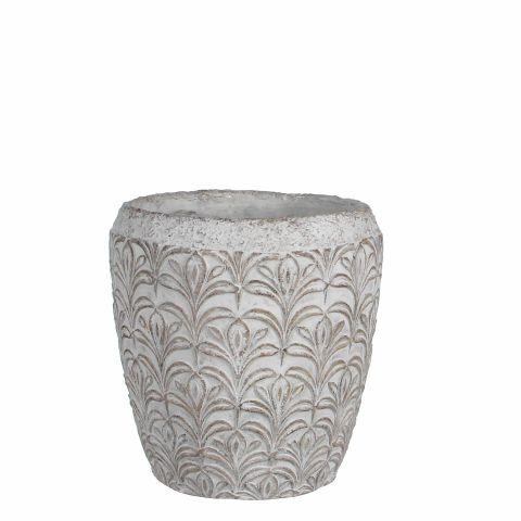 MICA Pott Ariadne naturaalne valge kõrgus 19,5 cm  x diameeter 19,5 cm,