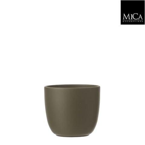 Pott Tusca roheline H13cm D13,5cm