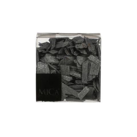 Puitlaastud dekoratsiooniks  hall hõbedase sädelusega 600ml