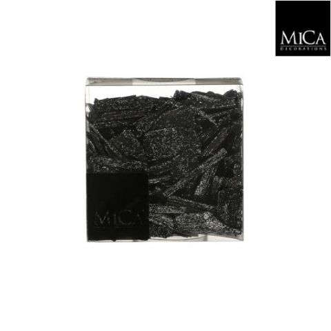 Puitlaastud dekoratsiooniks must hõbedase sädelusega 600ml