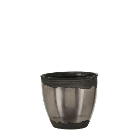 MICA Pott klaasist hõbedane h10xd11cm