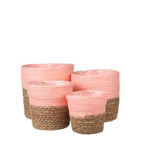 Korv Rachel roosa h18xd18cm