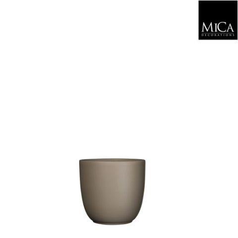 Pott Tusca taupe - h11xd12cm