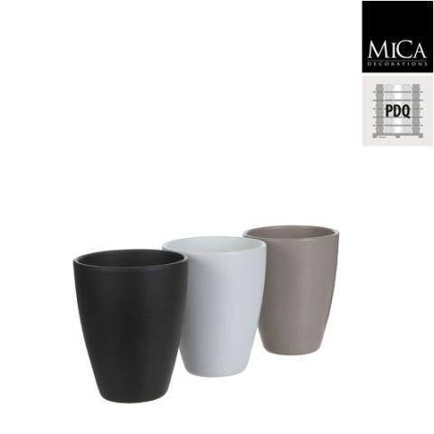 Pott Tusca erinevad värvid, h17.5 x d13.5 cm