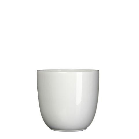 MICA Pott TUSCA valge kõrgus 16 cm x diameeter 17 cm