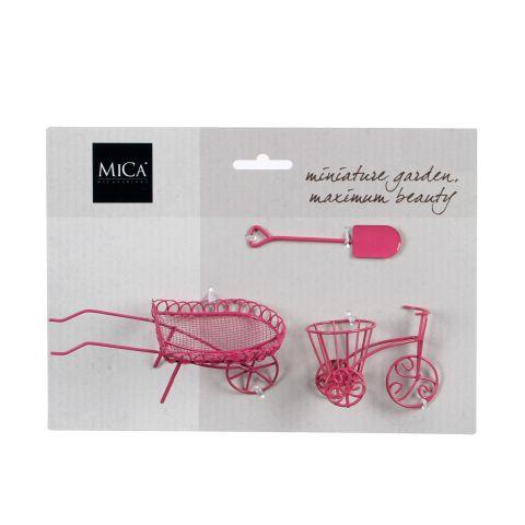 MICA mini aed roosa 3 osa