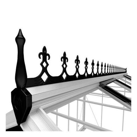 JULIANA Kasvuhoone Premium 10,9 katuseharja kaunistus