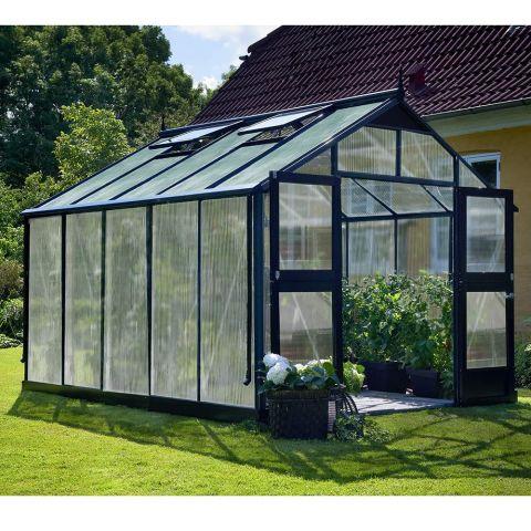 JULIANA Kasvuhoone Premium 10,9 m² antratsiithall karkass, 10 mm polükarbonaat