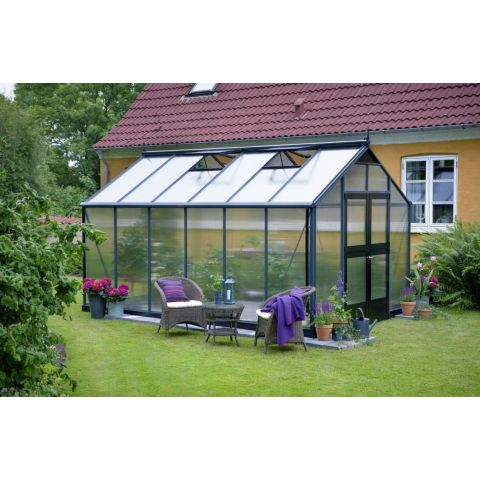 JULIANA Kasvuhoone Premium 13,0 m² antratsiithall karkass, 10 mm polükarbonaat