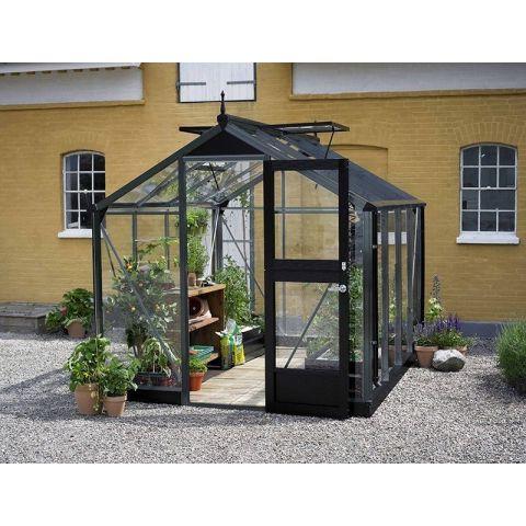 JULIANA Kasvuhoone Compact 6,6 m2 antratsiithall  karkass, 3 mm karastatud klaas, must alusraam