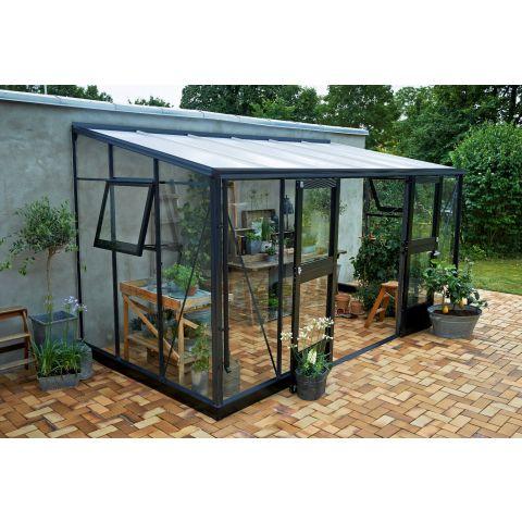 JULIANA Kasvuhoone Veranda 6,6 m² antratsiithall karkass, 3 mm karastatud  klaas
