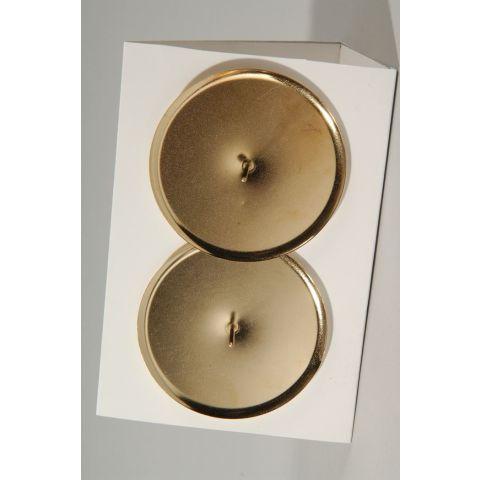 Küünlaalus seadele metall kuld 4 tk diameeter 6 cm