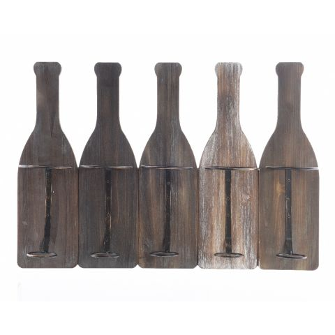 Veiniriiul 5le pudelile 11 x 58 x 40 cm pruun