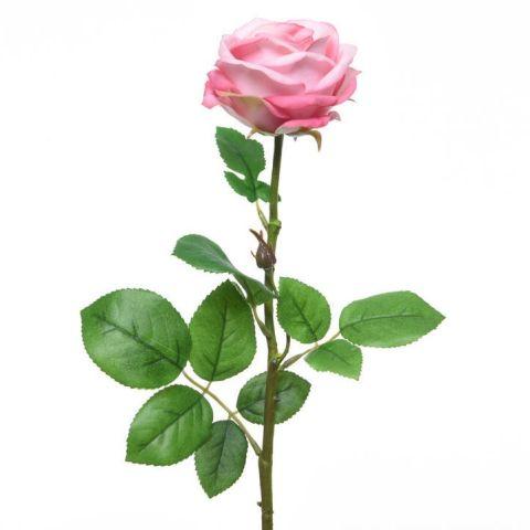Kunstlill roos 66cm , heleroosa