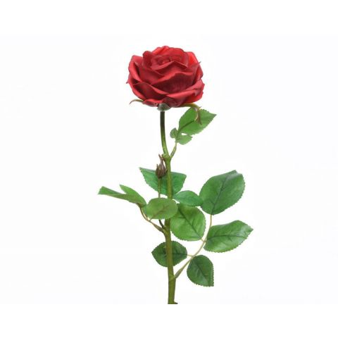 Kunstlill roos punane 68cm