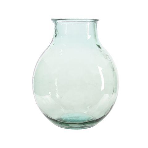 Vaas klaasist heleroheline 37 x 46 cm