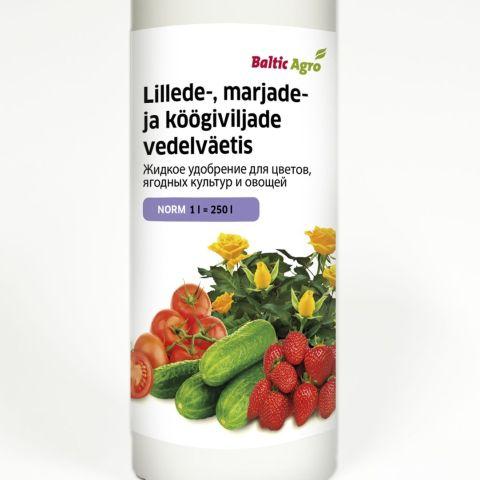 BALTIC AGRO Marjade ja köögiviljade vedelväetis 1 l