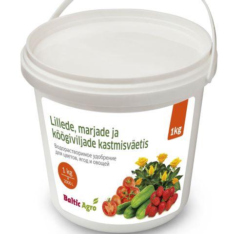 BALTIC AGRO Lillede-ja köögiviljade kastmisväetis 1 kg