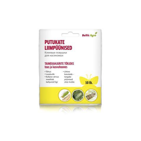 BALTIC AGRO Liimpüünis kollane liblikas toalilledele ja kasvuhoonesse 10 tk