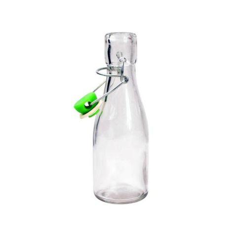 Klaaspudel 140ml (klambriga kork)