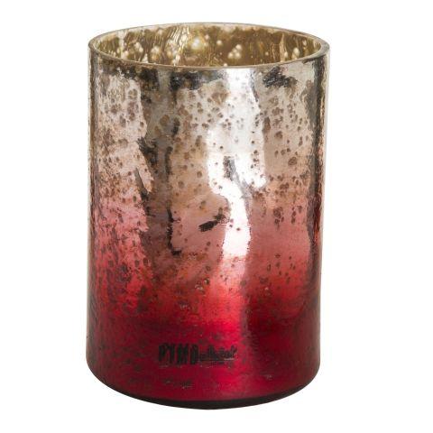 PTMD Küünlahoidja M punane/hõbe,