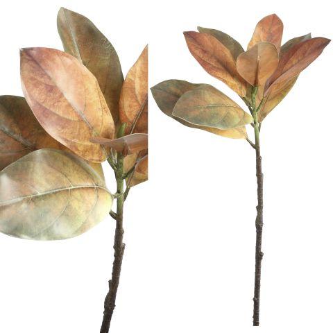 PTMD Kunstlill magnoolia lehed 68cm oranž