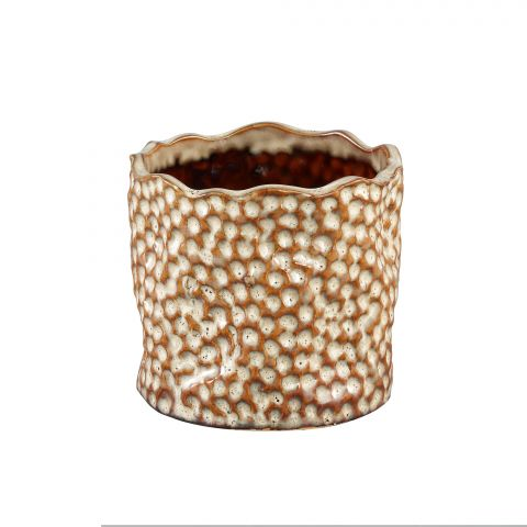 PTMD Keraamiline pott Adley valge 10 x 10 x 10cm