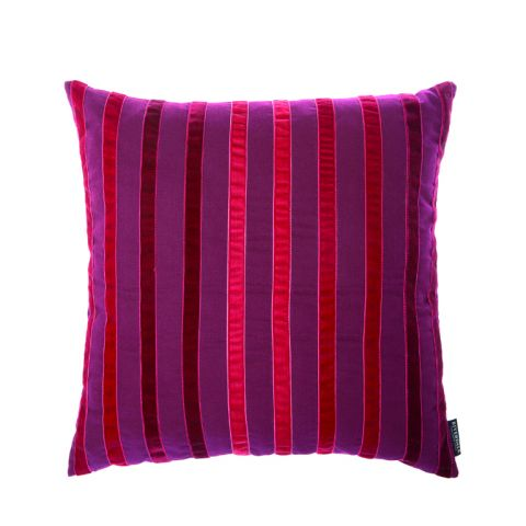Padi Stripes burgundy 45x45cm