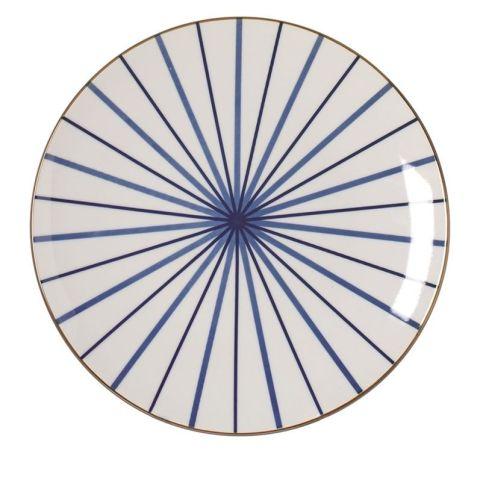 RIVERDALE Taldrik sinine triip 26 cm