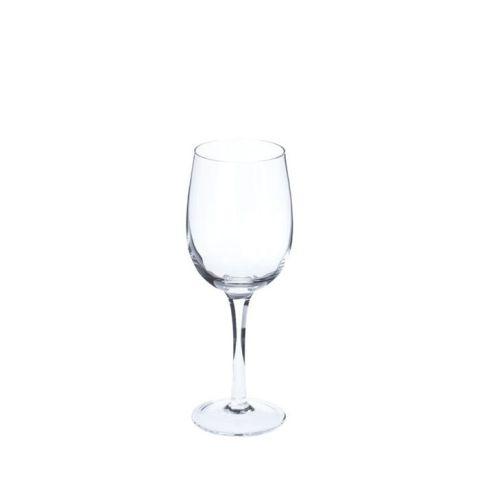 RIVERDALE valge veiniklaas Pure 20 cm 4 tk