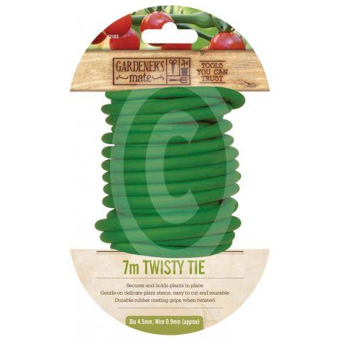 GARDMAN Taimesidumistraat pehme kattega 7m, paksus 5.4mm roheline