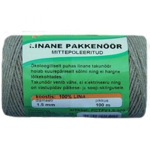 TANGENTE Linane pakkenöör poleerimata 1,5 mm 100 m,
