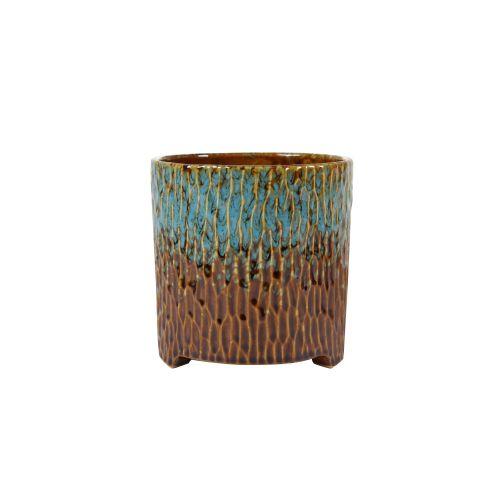 TER STEEGE Pott Carice sinine/pruun h14xd14cm